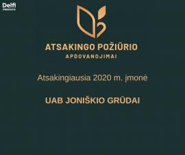 Įmonė Joniškio grūdai išrinkta verslo geradare