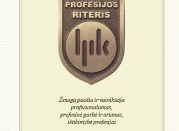 Profesijos riterio ženkliukas-atvirukas